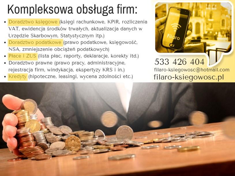 Biuro Rachunkowe Filaro - adres, telefon, www | Doradztwo Warszawa Ochota  Warszawa Ochota