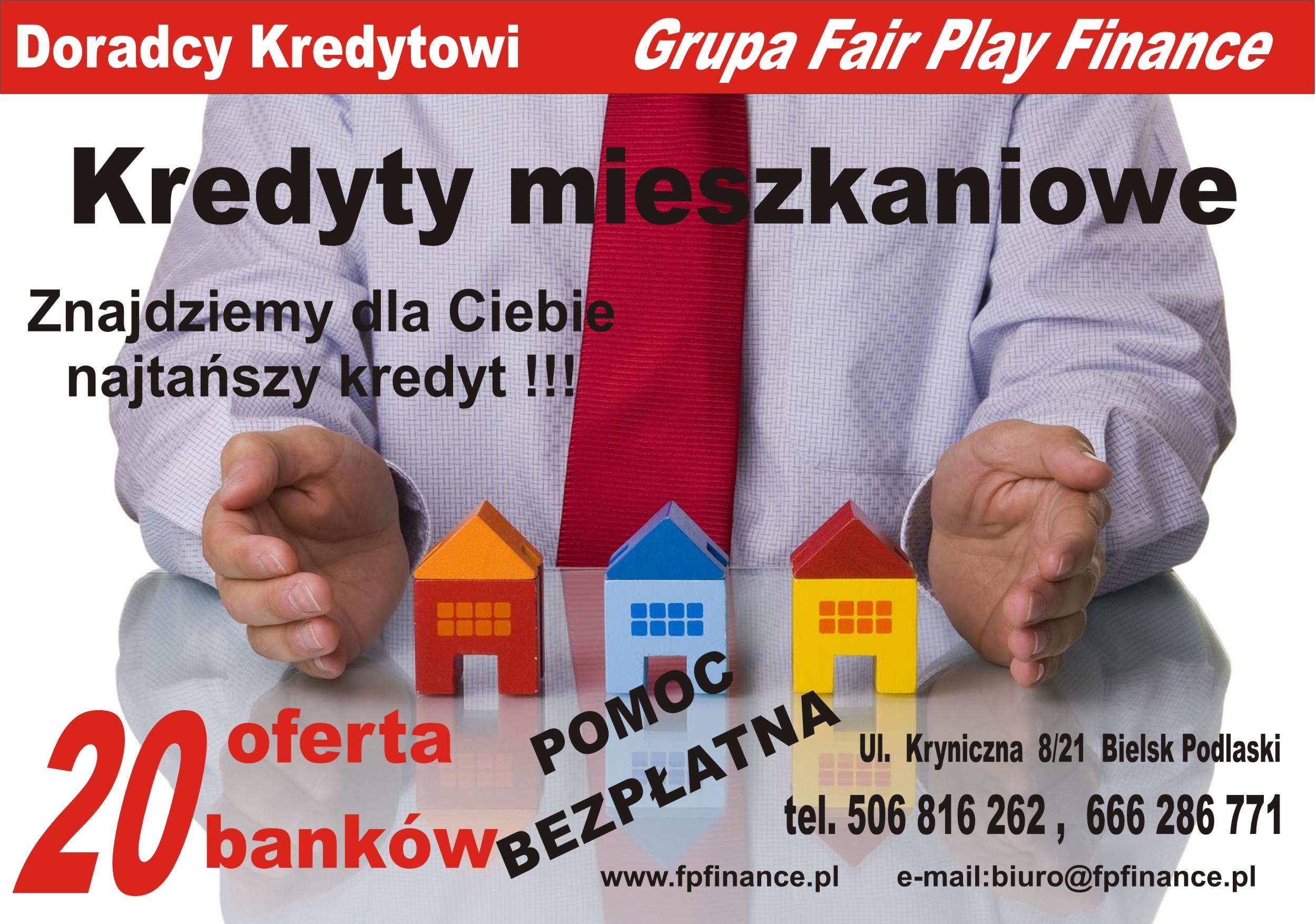 Pośrednictwo Kredytowe Fair Play Finance - adres, telefon, www | Banki - kredyty Bielsk Podlaski  Bielsk Podlaski