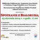 Biblioteka na Meissnera: Spotkanie z Białorusią