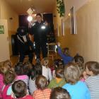 Borsuk i policjanci u przedszkolaków