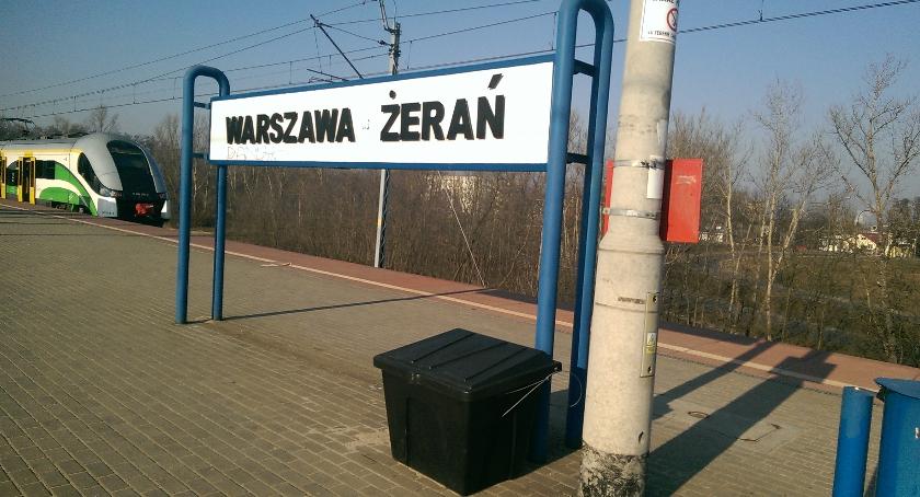 Komunikacja, Żerań więcej pociągów zmiany przystanku - zdjęcie, fotografia