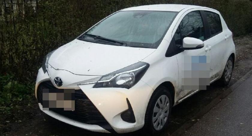 Bezpieczeństwo, Toyota skradziona Białołęce znaleziona Białołęce - zdjęcie, fotografia