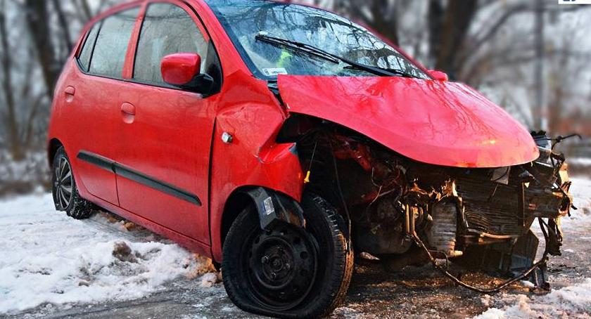 Bezpieczeństwo, Wczorajszy wypadek Myśliborskiej [ZDJĘCIA] - zdjęcie, fotografia