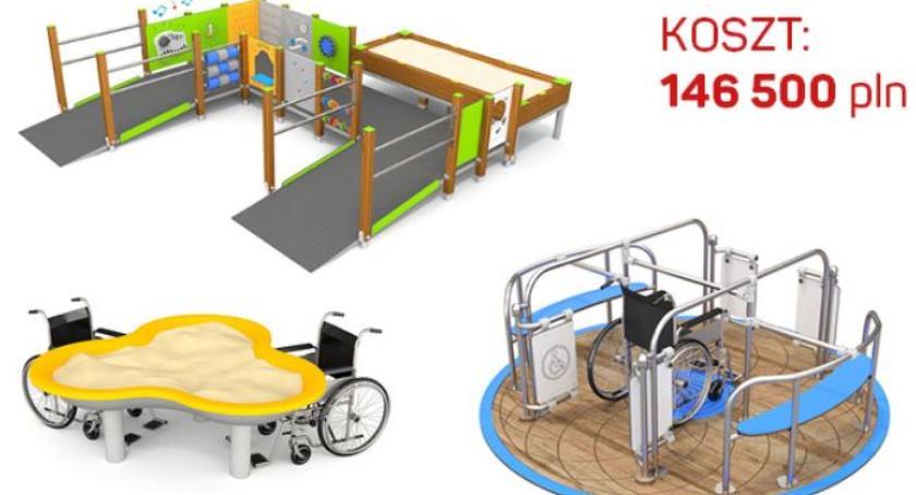 Budżet partycypacyjny, Zabawa barier integracyjny zabaw parku Picassa - zdjęcie, fotografia