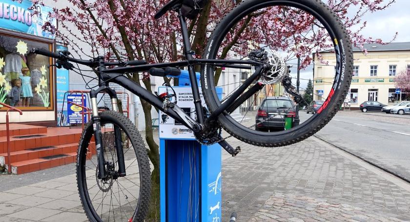 Budżet partycypacyjny, Stacja serwisowa rowerów moście Północnym - zdjęcie, fotografia