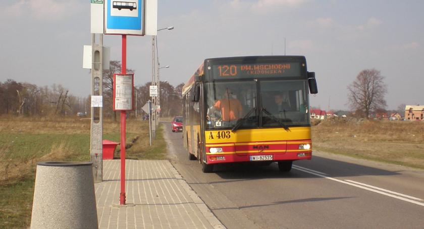 Komunikacja, Kąty Grodziskie autobusów Zmiany środy - zdjęcie, fotografia