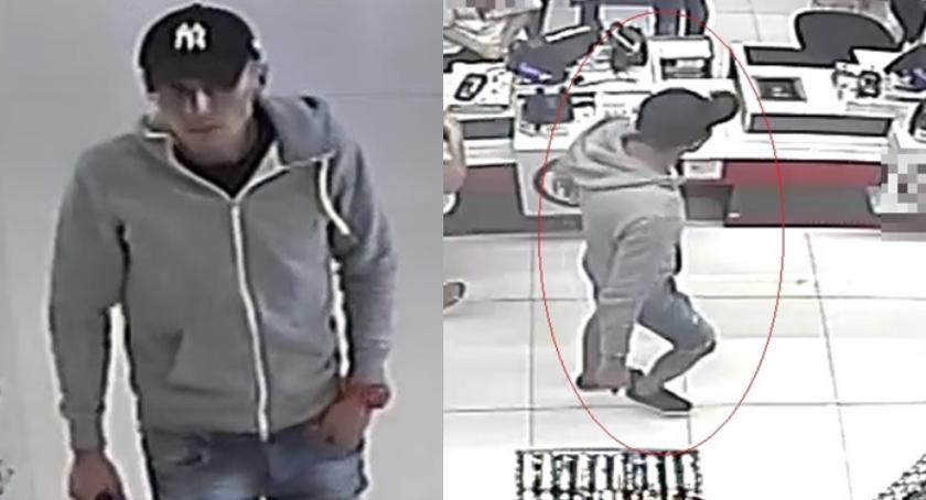 Kradzieże i rozboje, Poznajcie mężczyznę zdjęciach Powiadomcie policję - zdjęcie, fotografia