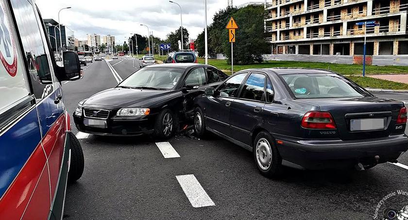 Wypadki, Wypadek skrzyżowaniu Milenijnej Światowida - zdjęcie, fotografia