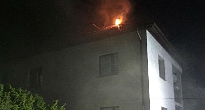 Pożary, Pożar Tetmajera [ZDJĘCIA straży] - zdjęcie, fotografia