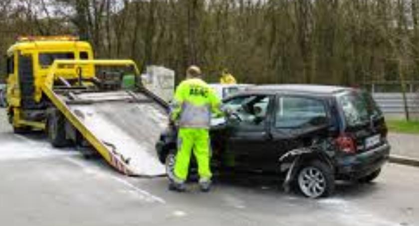 Wypadki, Wypadek Trasie Toruńskiej - zdjęcie, fotografia