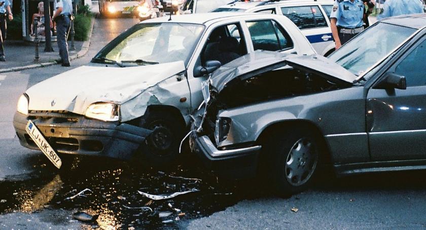 Wypadki, Wypadek trasie - zdjęcie, fotografia