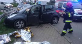 Wypadek na Płochocińskiej - zdjęcia straży ku przestrodze