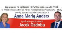 Spotkanie wyborcze z Anną Marią Anders