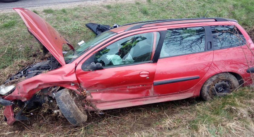 Wypadki, Groźny wypadek Zieleniu - zdjęcie, fotografia