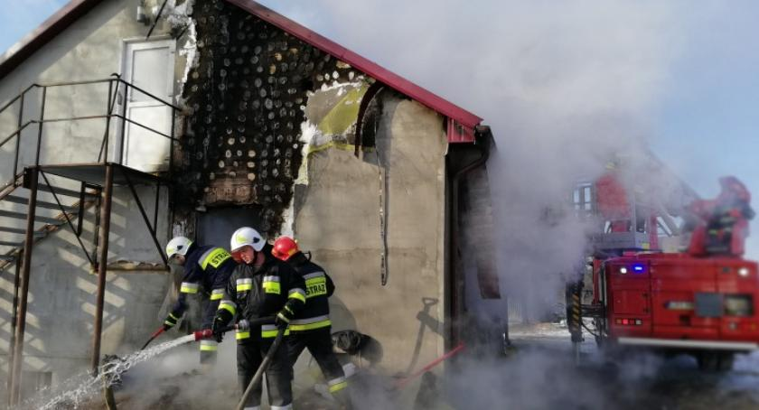 Pożary, Tragedia Czumsku Dużym Zwęglone ciało mieszkaniu - zdjęcie, fotografia
