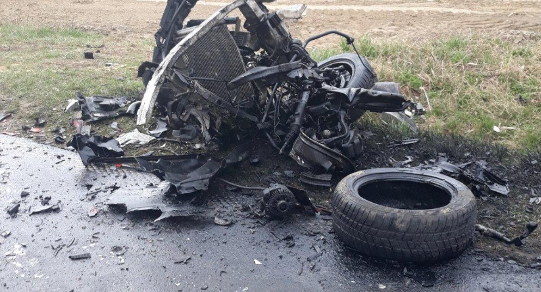 Wypadki, Wypadek Mariankach Jedna osoba żyje - zdjęcie, fotografia