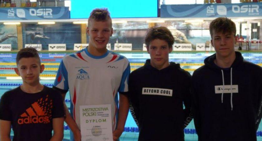Sporty wodne, Sukces młodego pływaka Rypina - zdjęcie, fotografia