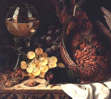 Kuchnia myśliwska, Bażant pieczony winogronami - zdjęcie, fotografia