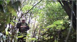 Kamera w lesie przyłapała kłusownika na gorącym uczynku