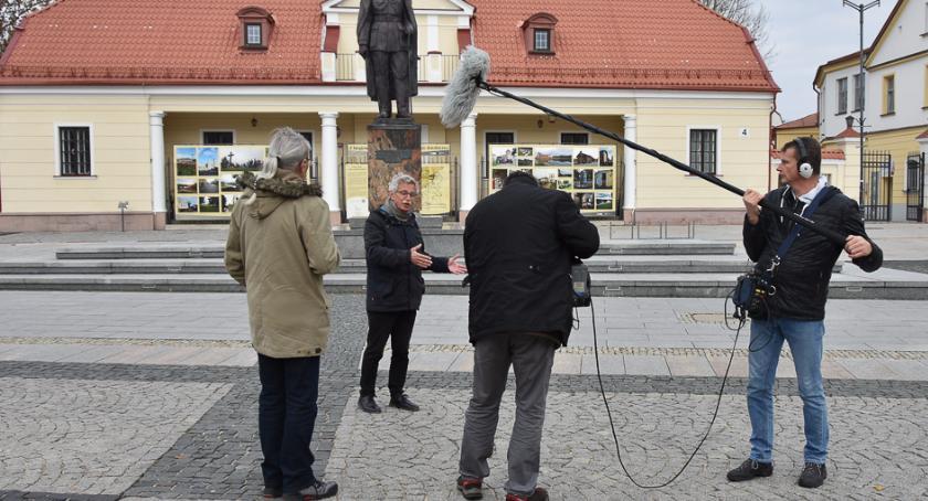 Wiadomości, Zdjęcia filmu Piłsudskim kręcono Białymstoku - zdjęcie, fotografia