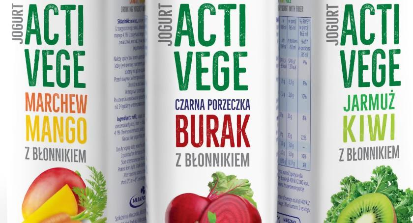 Smaczny Białystok, Jogurty Milko teraz warzywno owocowe - zdjęcie, fotografia