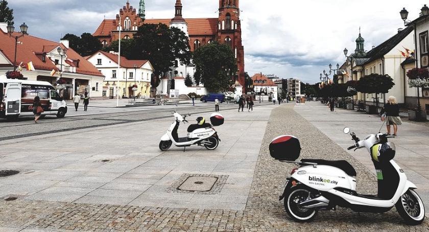 Moto, Elektryczne skutery przejechały ponad kilometrów Białymstoku - zdjęcie, fotografia