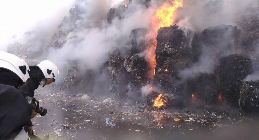 Wiadomości, Podpalenia było czemu paliło wysypisko wiadomo - zdjęcie, fotografia