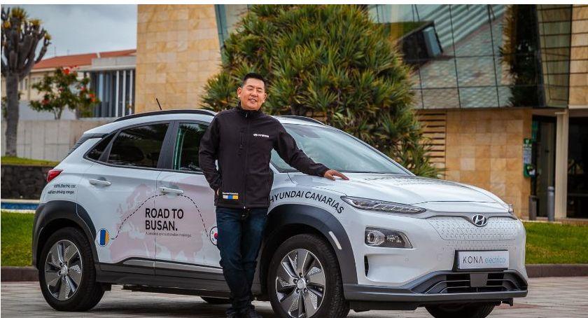 Moto, Elektryczny Hyundai przejedzie trasę Canarii Korei - zdjęcie, fotografia