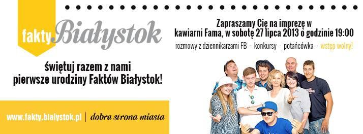 Wiadomości, urodziny Faktów Białystok - zdjęcie, fotografia