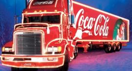 Selfie ze świąteczną ciężarówką Coca Coli