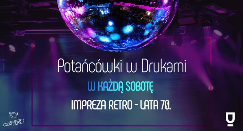 Taniec, Impreza stylu RETRO Drukarni - zdjęcie, fotografia