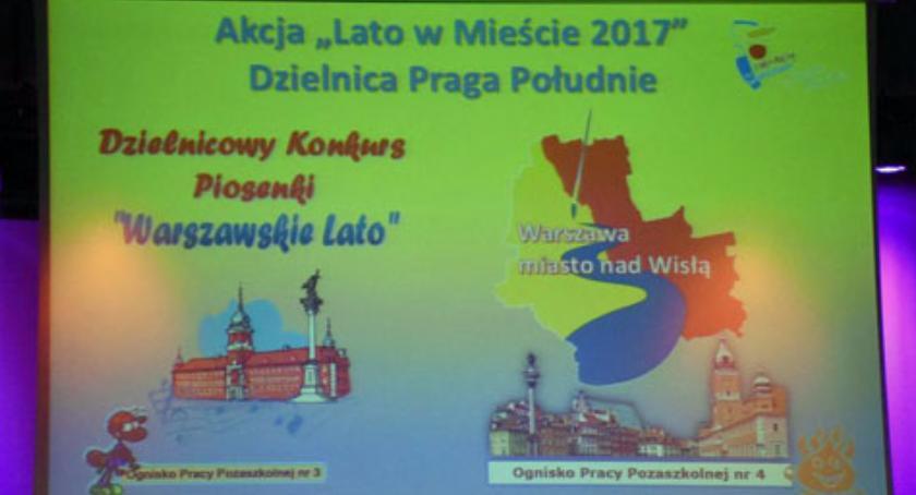 """Muzyka, Dzielnicowy Konkurs Piosenki """"Warszawskie Lato"""" - zdjęcie, fotografia"""