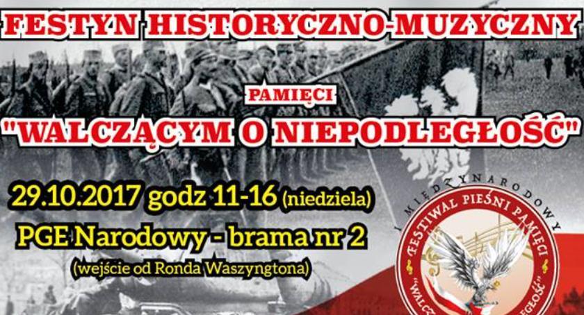 Zapowiedzi, Festyn historyczno muzyczny pamięci Walczącym Niepodległość października Narodowym - zdjęcie, fotografia