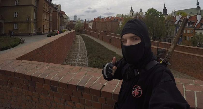 Bezpieczeństwo, Grochowski ninja akcji Zobaczcie - zdjęcie, fotografia