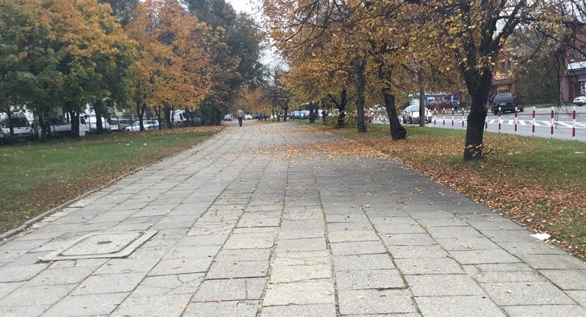 Ulice, końcu! Rozpoczyna remont chodnika wzdłuż Łukowskiej - zdjęcie, fotografia