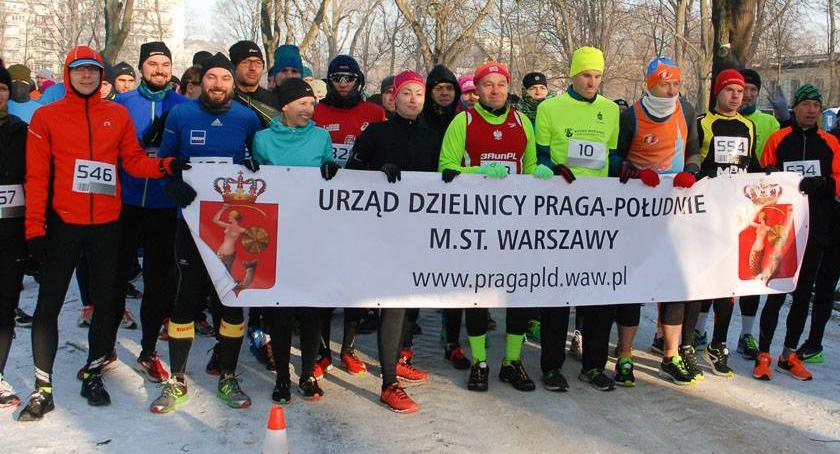 Bieganie, Noworoczny Parku Skaryszewskim stycznia! - zdjęcie, fotografia