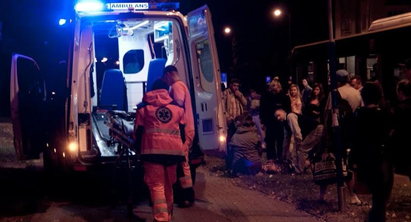 Wypadki, Śmiertelny wypadek Stanów Zjednoczonych Saskiej Kępie - zdjęcie, fotografia
