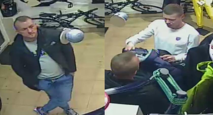 Kradzieże i rozboje, Ukradli kurtkę Szuka policja [ZDJĘCIA] - zdjęcie, fotografia
