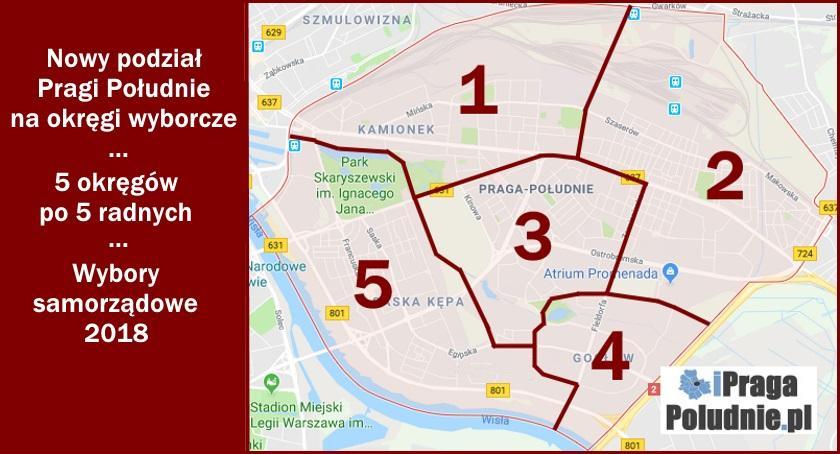 Wybory samorządowe, dzieli Pragę Południe Niezrozumiałe okręgi wyborcze - zdjęcie, fotografia