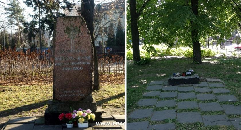Pomniki, stało pomnikiem Parku Znicza - zdjęcie, fotografia