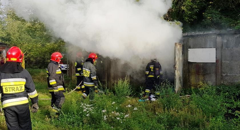 Pożary, Pożar Skaryszewskiej Straż publikuje zdjęcia - zdjęcie, fotografia