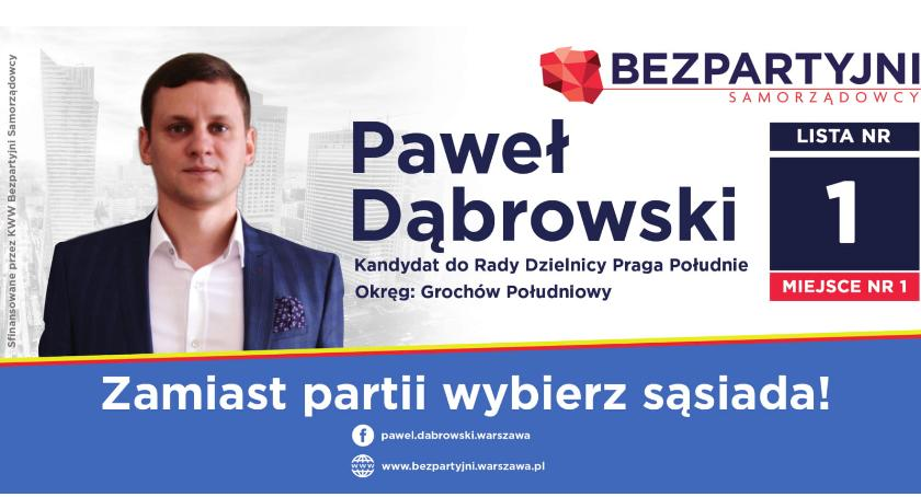 Wybory samorządowe, Zamiast partii wybierz sąsiada Grochowa - zdjęcie, fotografia