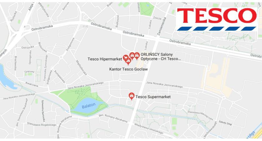 Handel i usługi, Tesco zamyka sklepy ulicy Fieldorfa Gocławiu - zdjęcie, fotografia