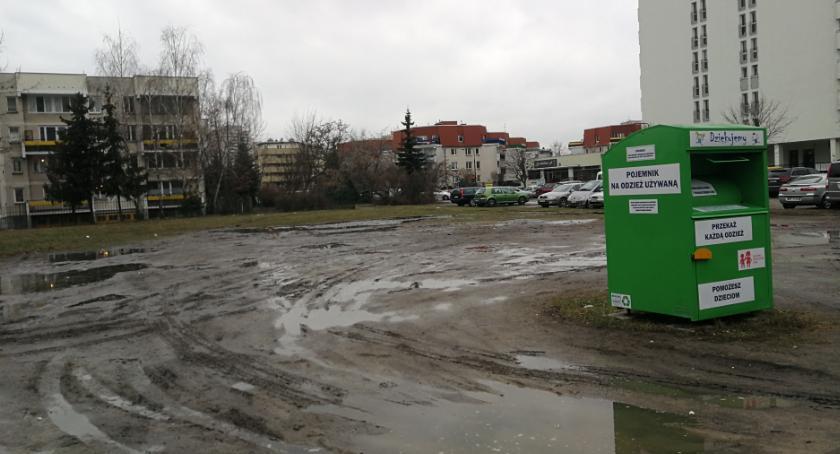 Zieleń, Bałagan remoncie ulicy Mlądzkiej - zdjęcie, fotografia