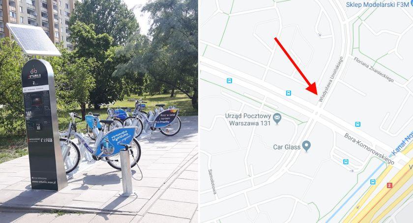 Rower, stacja rowerów Veturilo Gocławiu - zdjęcie, fotografia