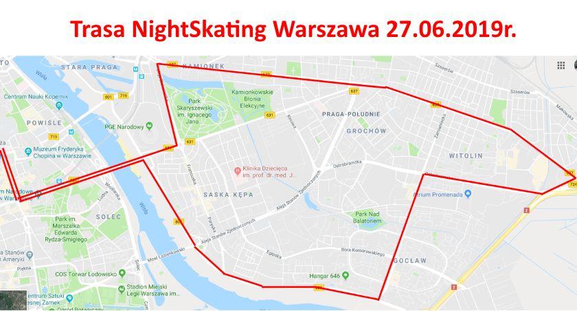 Inne dyscypliny, czwartek NightSkating przejedzie przez Pragę Południe - zdjęcie, fotografia