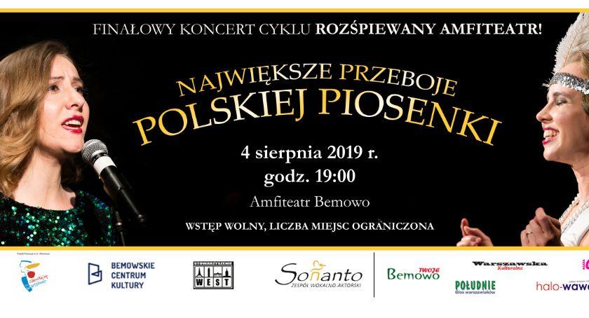 Wydarzenia, Największe przeboje polskiej piosenki finałowy koncert cyklu Rozśpiewany Amfiteatr! - zdjęcie, fotografia