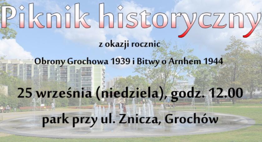 Wydarzenia, Piknik historyczny parku Znicza [ZAPROSZENIE] - zdjęcie, fotografia