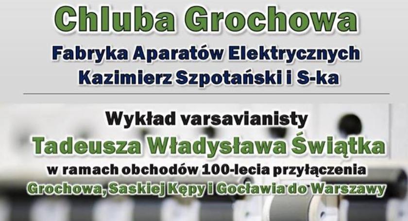 Historia, Chluba Grochowa Zapraszamy biblioteki Rumla wykład - zdjęcie, fotografia