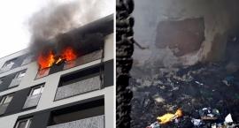 Straż Pożarna publikuje zdjęcia z akcji gaszenia pożaru na Gocławiu